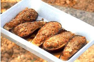 Fyldte auberginer m/Lam
