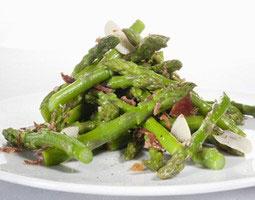 Grønne asparges med Serrano skinke