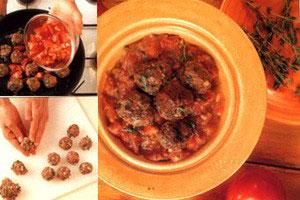 Kødboller i tomat sovs