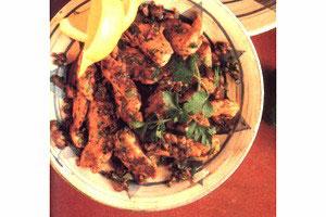 Kylling med citron og hvidløg