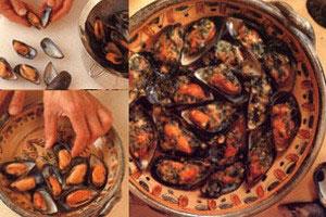 Grillede muslinger med persille og parmesan
