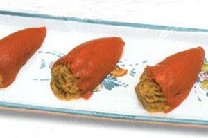 Peber med muslingefyld