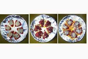 Pimientos m. artiskok, serano og ost