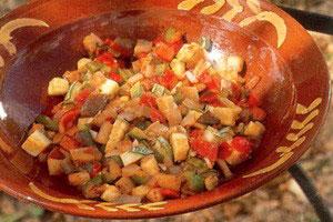 Stegte, blandede grønsager – Pisto Manchego