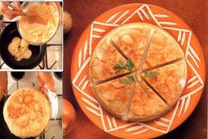 Spansk omelet med kartofler