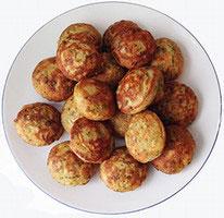 Tortillitas de camarones - Reje æbleskiver